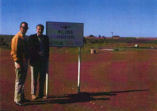 Paul and Sig at Wiluna Airstrip, Western Australia